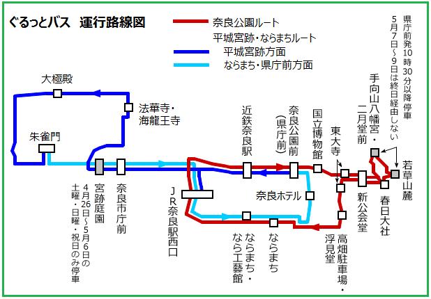 ぐるっとバス運行路線図