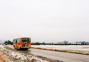 雪化粧の平城宮跡をゆく