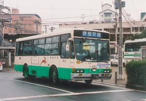 橿原神宮から三輪明神へ正月三が日に運行される臨時バス