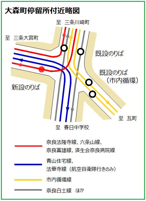 大森町停留所付近略図