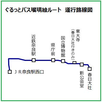 ぐるっとバス瑠璃絵ルート運行路線図