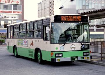 行先表示がLED化改造された平城営業所78号車