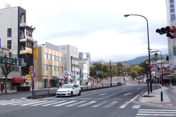 奈良マラソン当日の近鉄奈良駅付近のようす